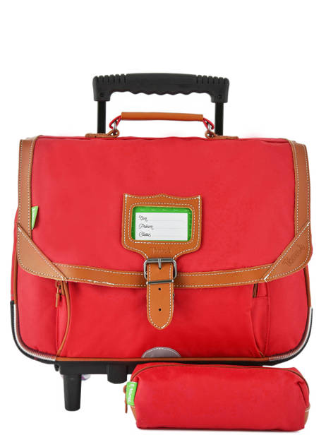 Wheeled Schoolbag With Matching Pencil Case Tann's Red les unis 42117