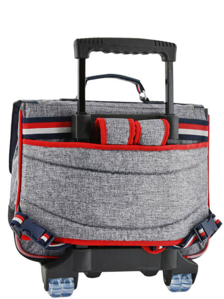 Wheeled Schoolbag 2 Compartments Tann's Gray les chines 42138 other view 3