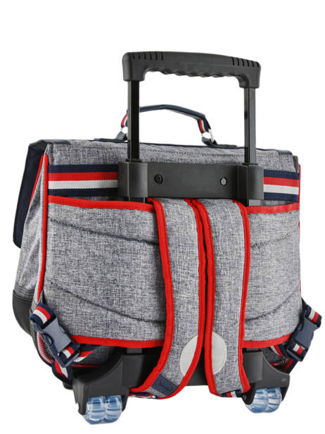 Wheeled Schoolbag 2 Compartments Tann's Gray les chines 42138 other view 4