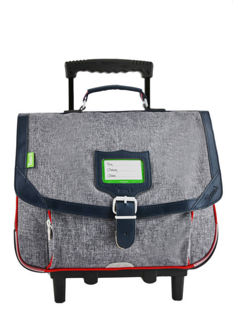 Wheeled Schoolbag 2 Compartments Tann's Gray les chines 42138