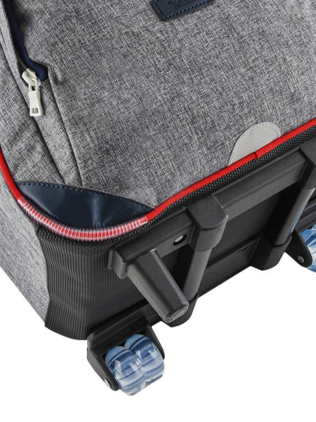 Wheeled Backpack 2 Compartments Tann's Gray les chines 73138 other view 1