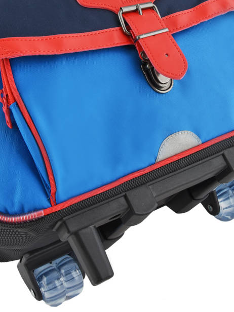 Wheeled Schoolbag 2 Compartments Tann's Blue fantaisie garcon 42221 other view 1