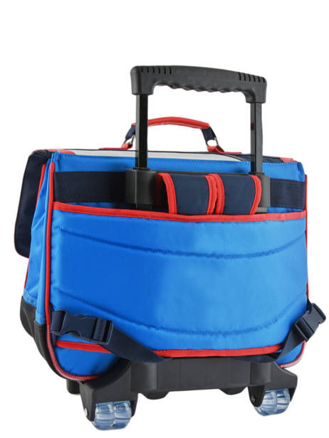 Wheeled Schoolbag 2 Compartments Tann's Blue fantaisie garcon 42221 other view 3