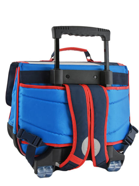 Wheeled Schoolbag 2 Compartments Tann's Blue fantaisie garcon 42221 other view 4