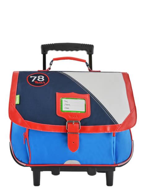 Wheeled Schoolbag 2 Compartments Tann's Blue fantaisie garcon 42221