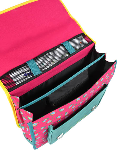 Satchel For Kids 2 Compartments Cameleon Pink retro RET-CA35 other view 6