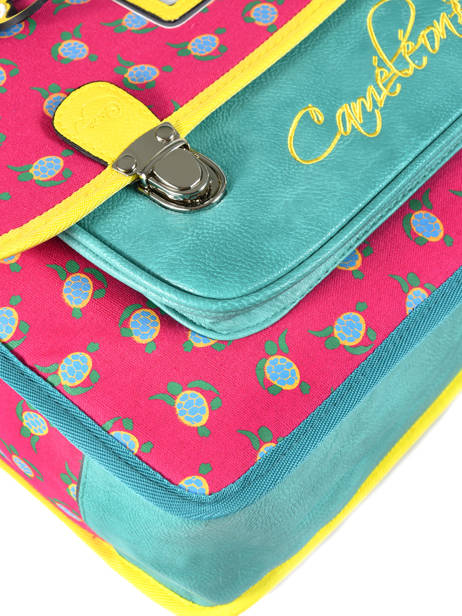 Satchel For Kids 2 Compartments Cameleon Pink retro RET-CA35 other view 1