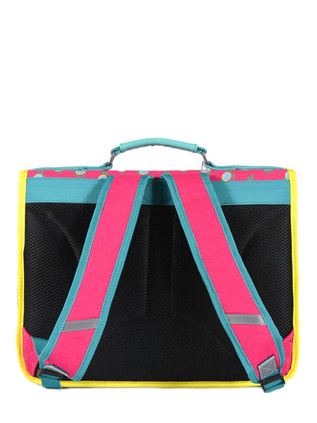 Satchel For Kids 2 Compartments Cameleon Pink retro RET-CA35 other view 5