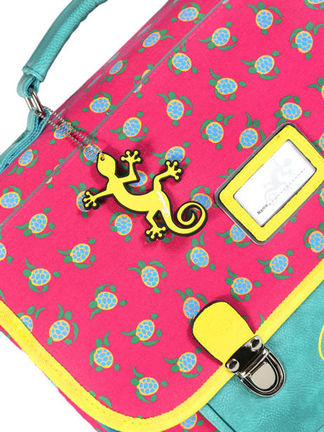 Satchel For Kids 2 Compartments Cameleon Pink retro RET-CA35 other view 2