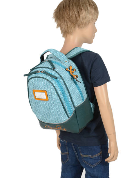 Backpack For Kids 2 Compartments Cameleon Black retro RET-SD31 other view 2