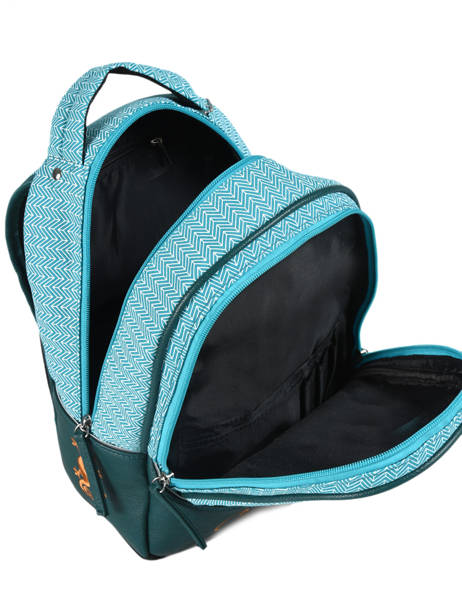 Backpack For Kids 2 Compartments Cameleon Black retro RET-SD31 other view 5