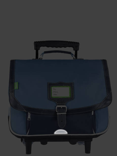 Wheeled Schoolbag 2 Compartments Tann's Black les bicolores 42128 other view 7