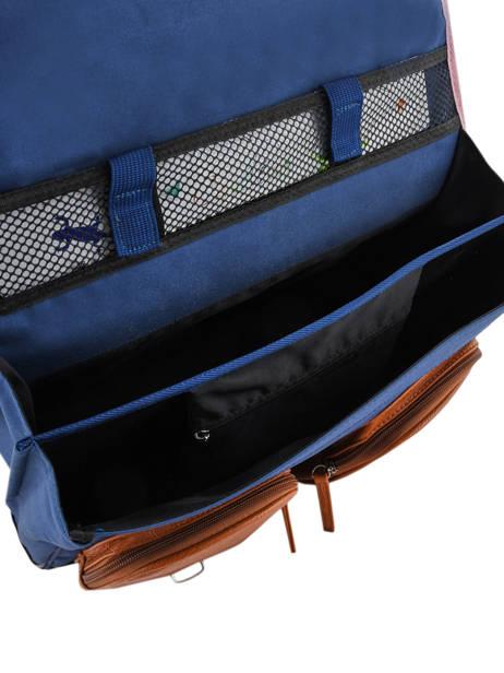 Satchel 2 Compartments Cameleon Blue vintage print girl VIG-CA38 other view 5