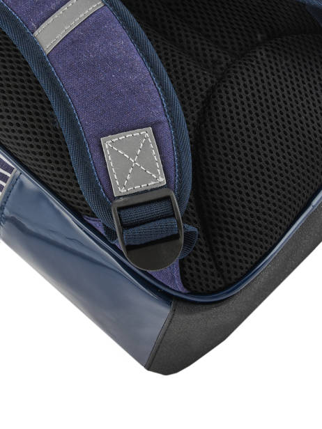Backpack For Kids 2 Compartments Cameleon Blue retro vinyl REV-SD31 other view 2