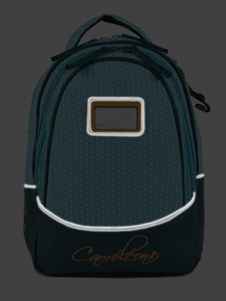 Backpack For Kids 2 Compartments Cameleon Black retro RET-SD31 other view 6