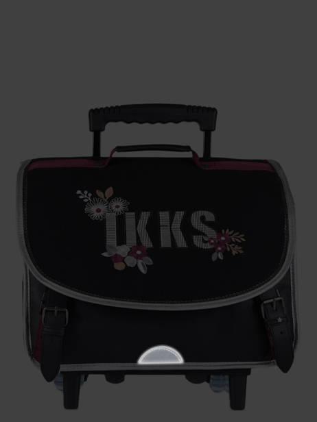 Cartable à Roulettes 2 Compartiments Ikks Noir black tea 42814 vue secondaire 6