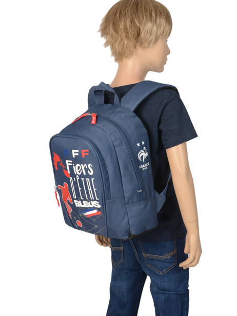 Backpack Federat. france football Blue equipe de france 193X201S other view 2