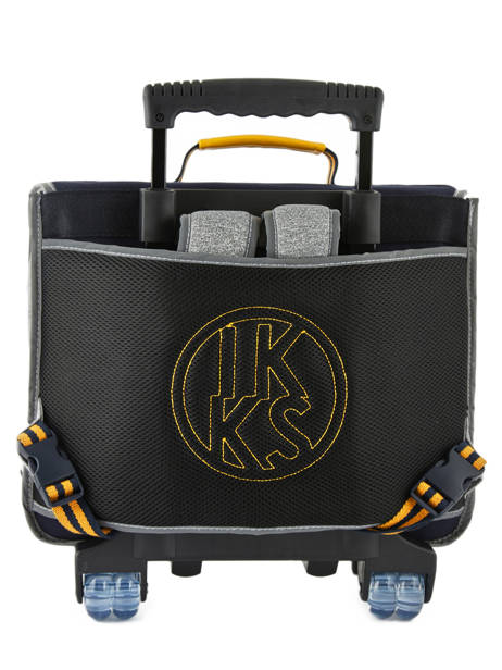Wheeled Schoolbag 2 Compartments Ikks Gray kings 42838 other view 4