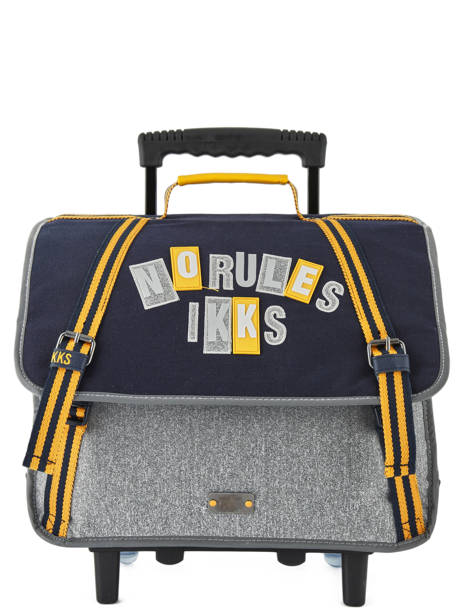 Wheeled Schoolbag 2 Compartments Ikks Gray kings 42838
