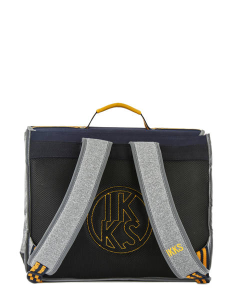 Cartable 2 Compartiments Ikks Gris kings 38838 vue secondaire 4