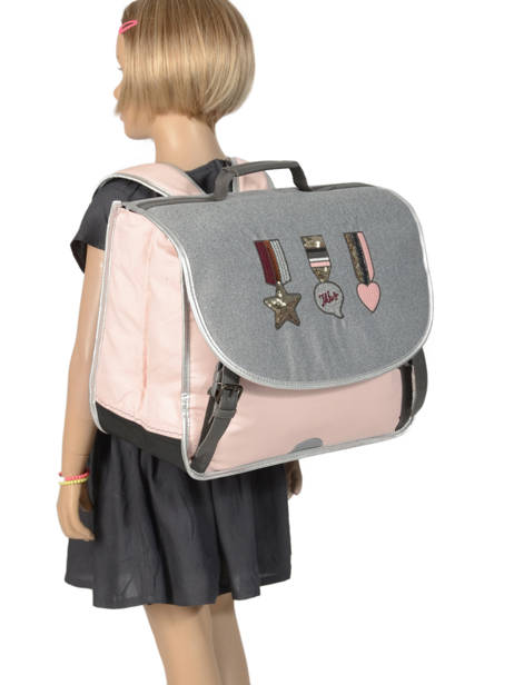 Satchel 2 Compartments Ikks Gray urban lab 41513 other view 3
