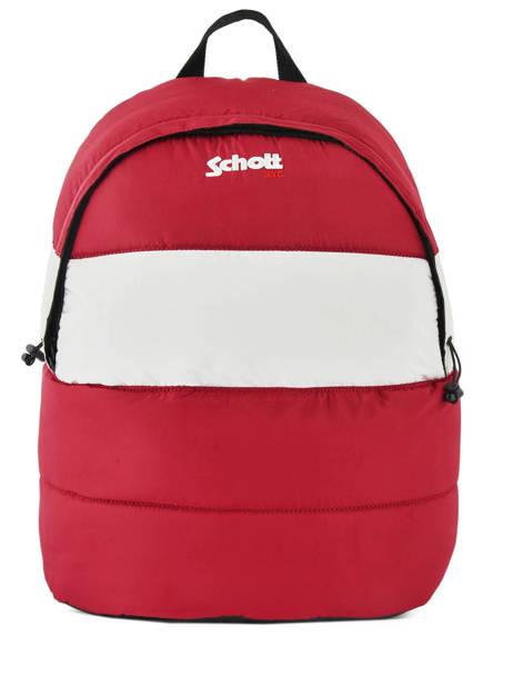 Sac à Dos 1 Compartiment Schott Rouge downbag 62714