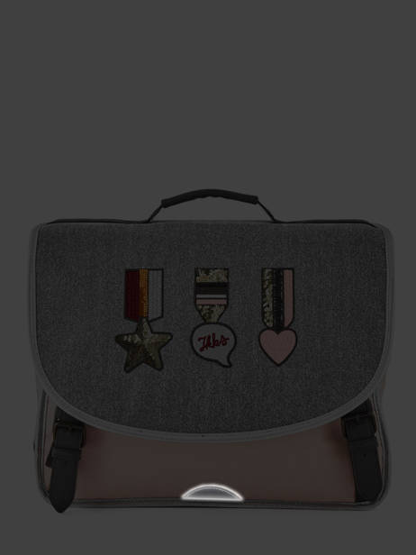 Satchel 2 Compartments Ikks Gray urban lab 38513 other view 6