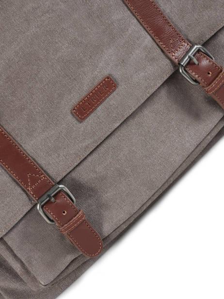 Messenger Bag Etrier Brown canvas ECAN02 other view 1