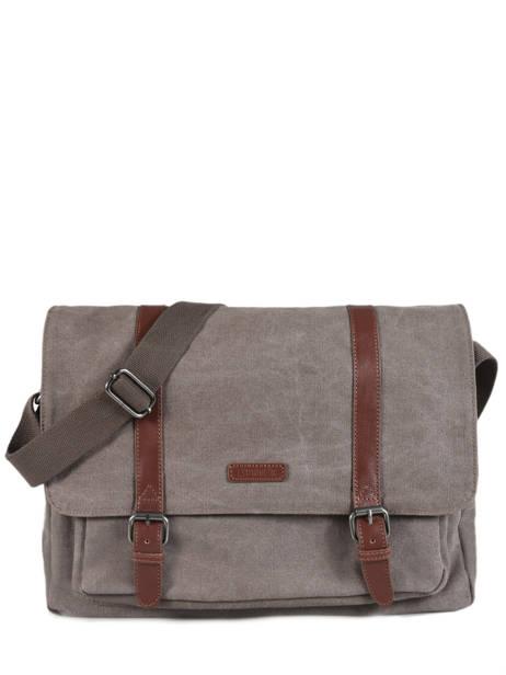 Messenger Bag Etrier Brown canvas ECAN02