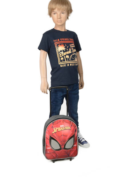 Wheeled Backpack Mask Spiderman Red mask SPINI04 other view 1