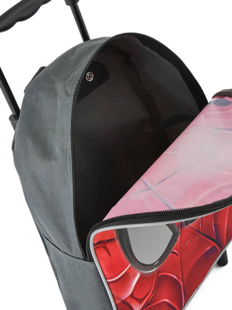 Wheeled Backpack Mask Spiderman Red mask SPINI04 other view 3