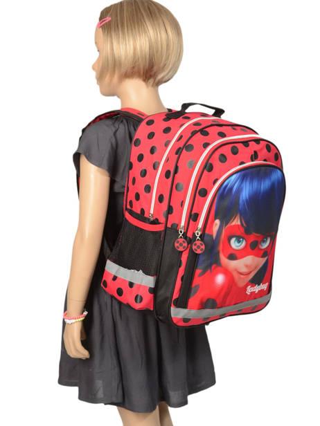Sac à Dos 2 Compartiments Miraculous Rouge tales of ladybug 599840LB vue secondaire 1