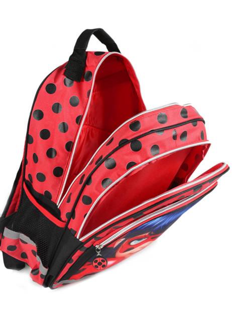 Sac à Dos 2 Compartiments Miraculous Rouge tales of ladybug 599840LB vue secondaire 3