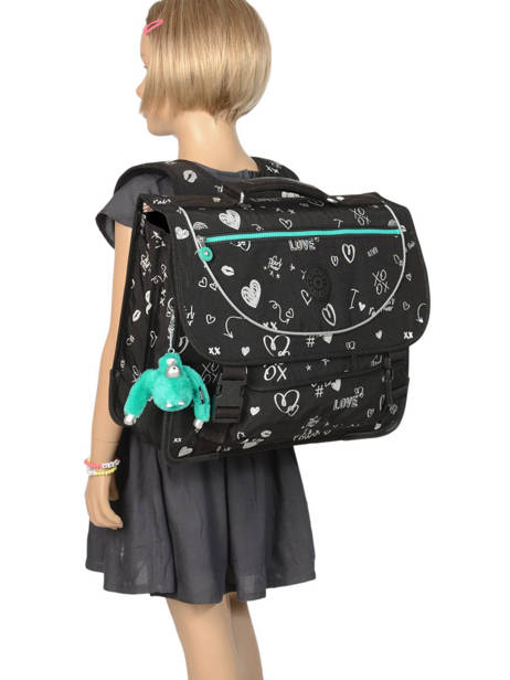 Satchel 2 Compartments Kipling Black back to school 12074 other view 3