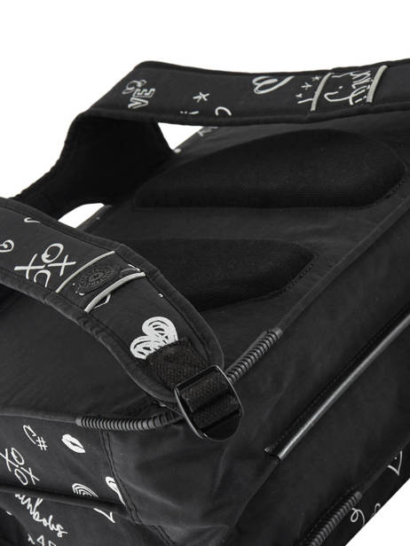 Satchel 2 Compartments Kipling Black back to school 12074 other view 1