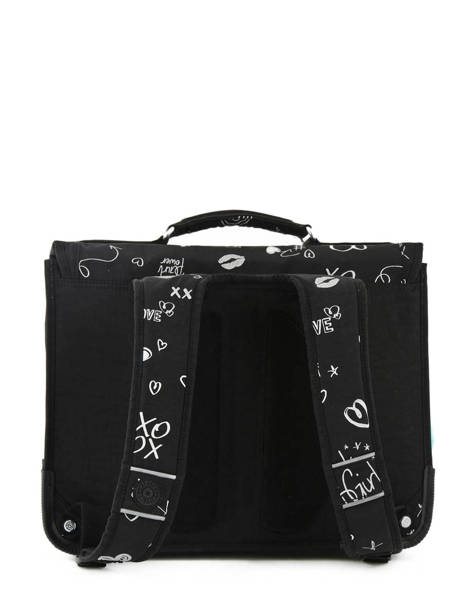 Satchel 2 Compartments Kipling Black back to school 12074 other view 4
