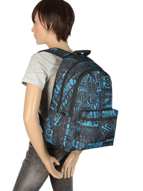 Backpack 2 Compartments With Matching Pencil Case Rip curl Blue frame deal BBPNY4 other view 3