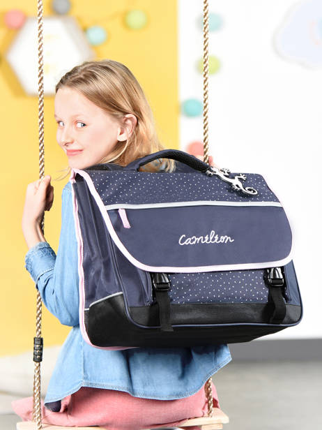 Satchel For Kids 3 Compartments Cameleon Blue basic BAS-CA41 other view 3
