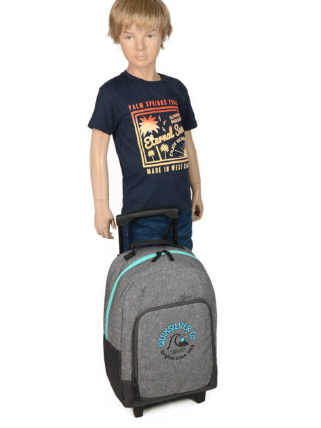 Wheeled Backpack With Free Pencil Case Quiksilver Gray youth access kids QBBP3035 other view 2
