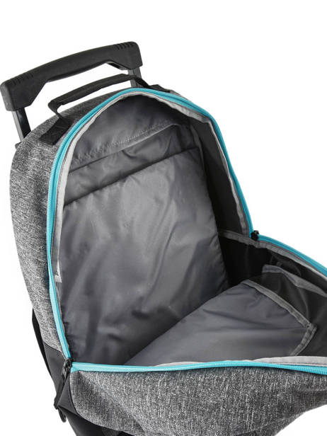 Wheeled Backpack With Free Pencil Case Quiksilver Gray youth access kids QBBP3035 other view 5