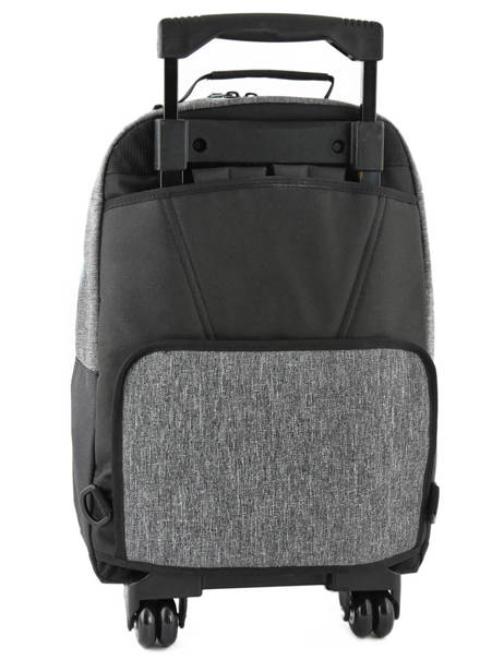Wheeled Backpack With Free Pencil Case Quiksilver Gray youth access kids QBBP3035 other view 4