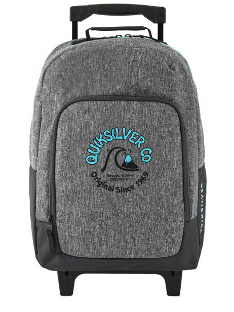 Wheeled Backpack With Free Pencil Case Quiksilver Gray youth access kids QBBP3035 other view 1