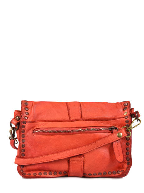 Sac Bandoulière Dewashed Cuir Milano Orange dewashed DE17111 vue secondaire 3
