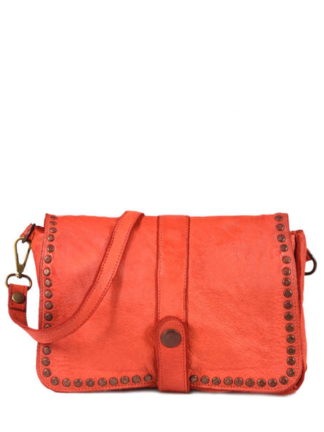 Sac Bandoulière Dewashed Cuir Milano Orange dewashed DE17111