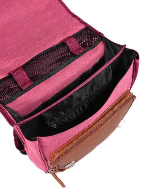 Backpack For Kids 2 Compartments Cameleon Pink vintage chine VIN-SD38 other view 5