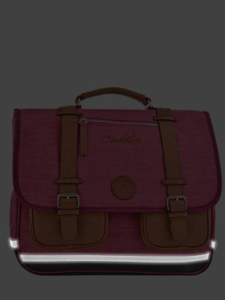 Satchel For Kids 2 Compartments Cameleon Pink vintage chine VIN-CA35 other view 5