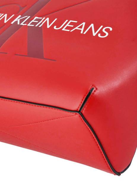Sac Cabas Sculpted Monogramme Calvin klein jeans Rouge sculpted monogramme K605521 vue secondaire 1