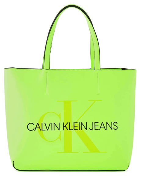 Tote Bag Sculpted Monogram Calvin klein jeans Yellow sculpted monogramme K605521