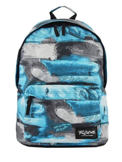 Backpack 1 Compartment Rip curl Blue photo script BBPMX4