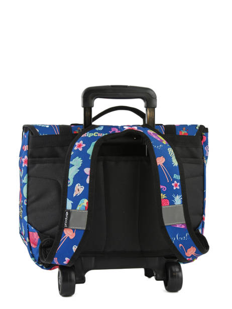 Wheeled Schoolbag 2 Compartments Rip curl Blue summer time LBPQB4 other view 3